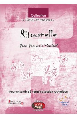 """Partition """"Ritournelle"""" (pour Ensemble à Vents et Section rythmique)"""