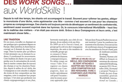 Des Work songs aux WorldSkills